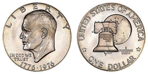 1976-D EISENHOWER TYPE 2 DOLLAR FROM UNC MINT SET  B-17-21
