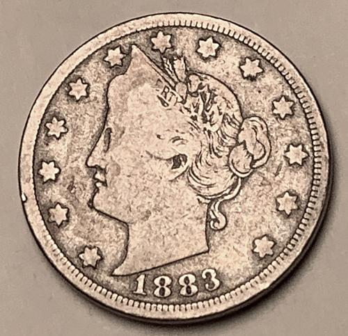 "1883 No Cents Liberty ""V"" Nickel VG10 [SVB 288]"