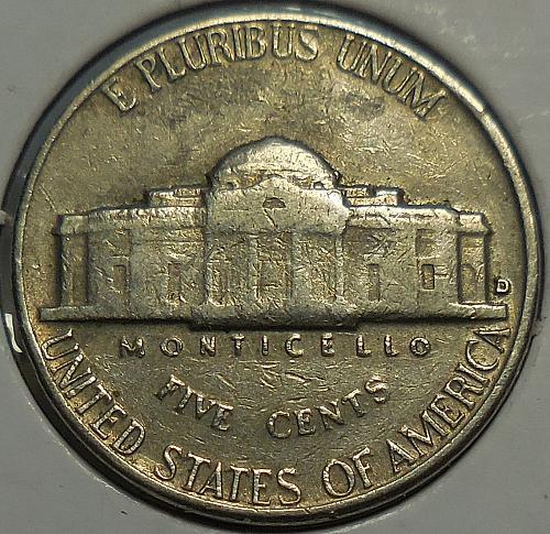 1964-D Jefferson Nickel Die Error