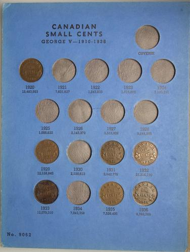 1920-1972 CANADA SMALL CENTS Collection Book#E  46 Coins