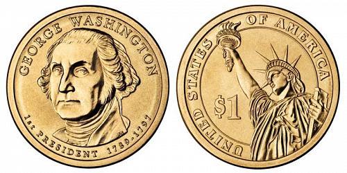 2007-D PRESIDENT GEORGE WASHINGTON DOLLAR  UNCIRCULATED B-19-21