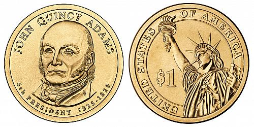 2008-D PRESIDENT JOHN QUINCY ADAMS DOLLAR  UNCIRCULATED B-19-21