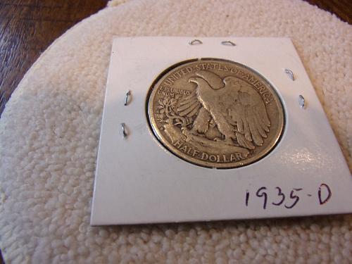 1935 d walking liberty half dollar cir