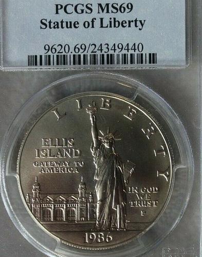 1986-P Statue of Liberty Centennial Dollar PCGS MS-69 ( Silver BU $1 )