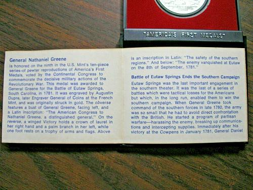 Americas First Revolutionary War Medals