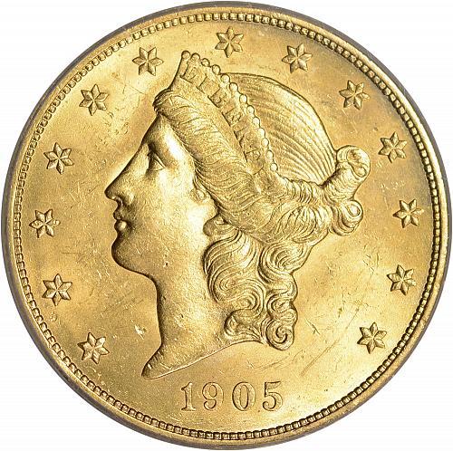 Scarce 1905 Gold $20 Double Eagle ICG MS63 - ToughCOINS