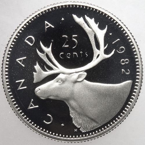 1982 Canada 25C Twenty-five Cents Proof DCAM