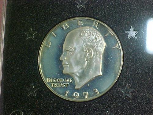 1973 S EISENHOWER DOLLAR  BROWN IKE   KEY DATE