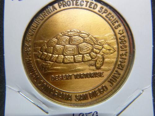 CALIFORNIA PROTECTED SPECIES 1980 TORTOISE TURTLE MEDAL