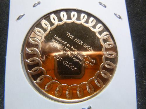 THE HEX SIGN DUTCH LUCK FRANKLIN MINT PROOF