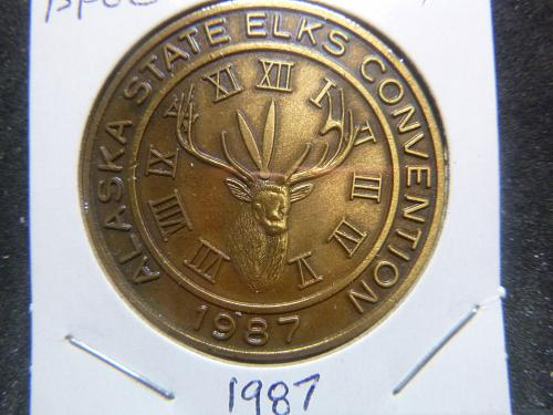 BPOE ELKS 1987 ALASKA STATE CONVENTION   MEDAL