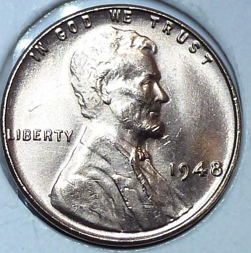 1948-P Gem BU RED Lincoln Wheat Cent (F-304 )