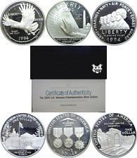 1994 US Mint 3 Coin Veterans Proof Set