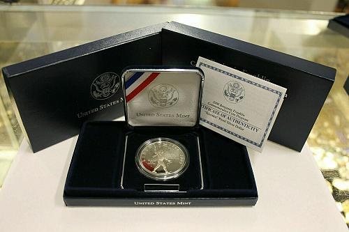 2006 Ben Franklin Scientist  Silver Dollar proof