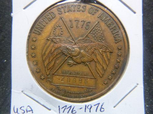 REGISTERED SPIRIT OF 19776-1976UNITED STATES OF AMERICA MEDAL
