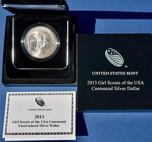 2013 Girl Scouts of the USA Centennial Silver Dollar Uncirculated