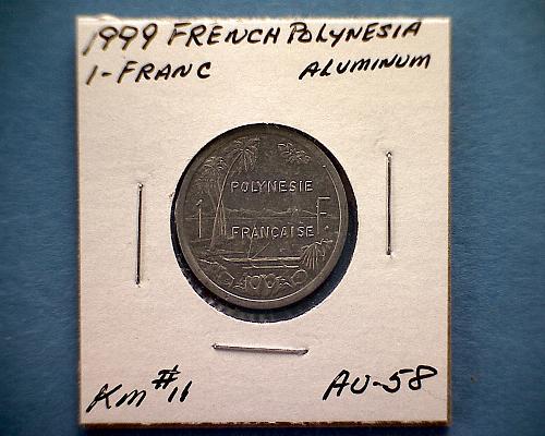 1999 FRENCH POLYNESIA  ONE FRANC