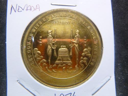 NEVADA 1976 CC 200TH ANNIVERSARY 36TH STATE COIN