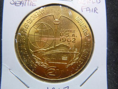 SEATTLE WORLD FAIR 1962 SPACE KNEEDLE 21 CENTURY EXPOSITION  ONE DOLLAR