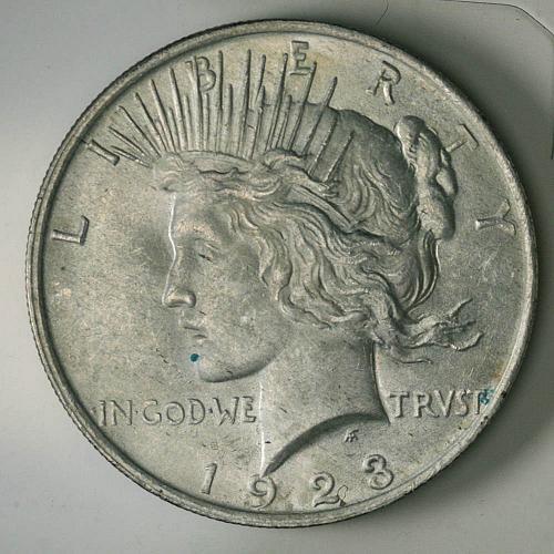1923 P Peace Dollar BU