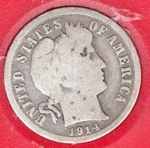 1914 D Barber Dimes - #3a