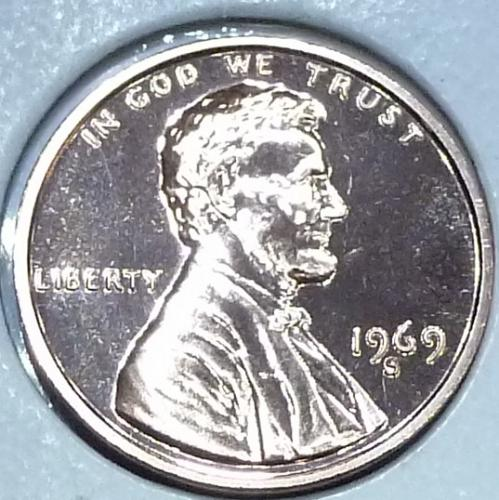 1969-S Gem Proof Cent Memorial Lincoln Cent (F-318)