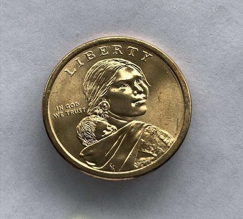2017 D BU Native American Dollar--Sequoyah (0210-3)