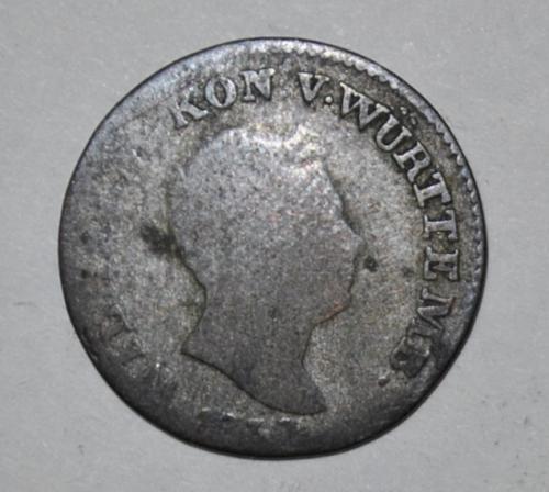 German States Württemberg 3 Kreuzer 1837  G569