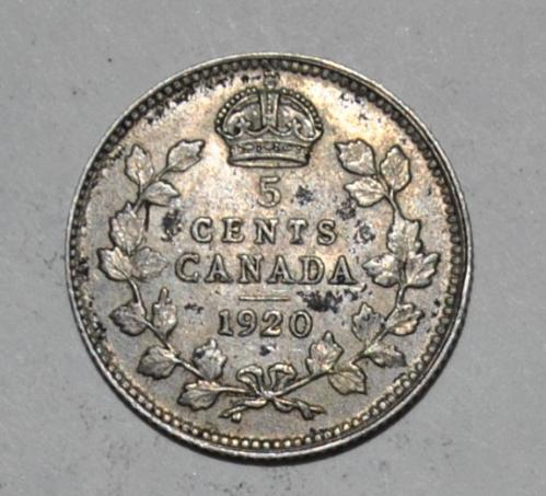Canada 5 Cents 1920  G577