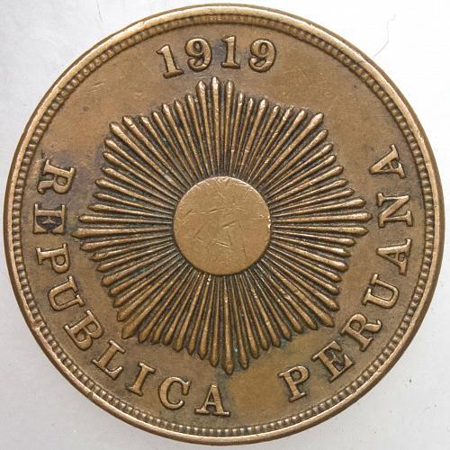 1919 PERU 2 Centavos
