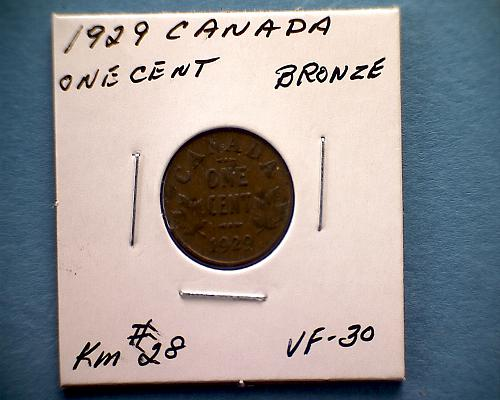 1929 CANADA ONE CENT  KING GEORGE V