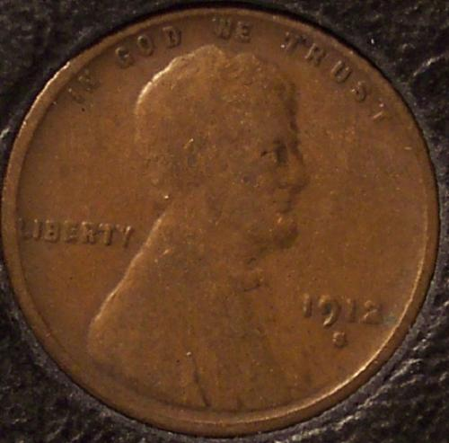 1912-S Lincoln Wheat Back Penny VG #0692