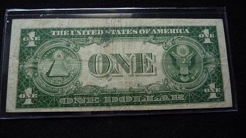 1935-D ONE DOLLAR SILVER CERTIFICATE NOTE SER# M99152048F  B-23-21