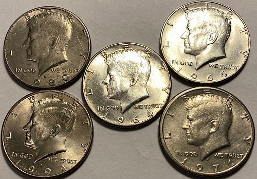 1964 P Kennedy Half Dollars