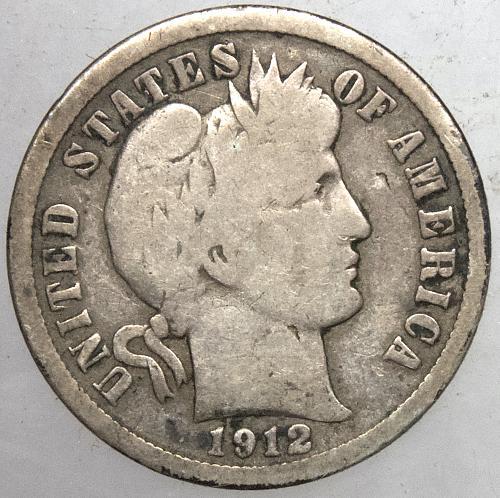 1912 P Barber Dime #4