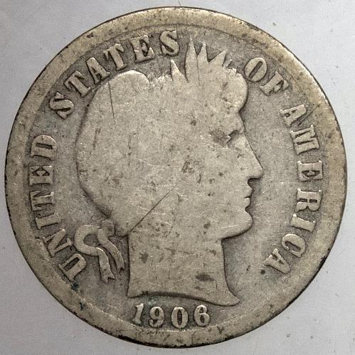 1906 P Barber Dime#4