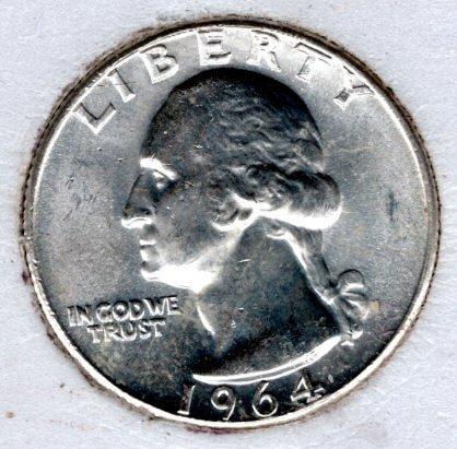 1964 D Washington Quarters -#4a