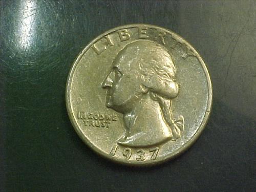 1937 WASHINGTON QUARTER     aj88