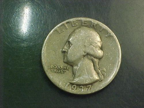1937 D WASHINGTON QUARTER     aj89