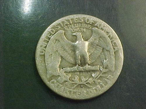1945 D WASHINGTON QUARTER     aj95
