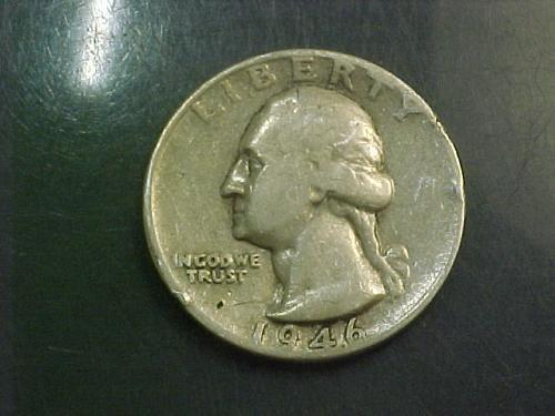 1946 D WASHINGTON QUARTER     aj96