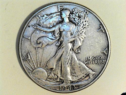 1943 P Walking Liberty Half Dollar---AU