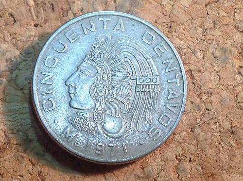 1971 Mexico Cincuenta centavos