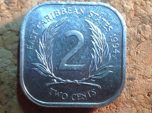 1994 East Caribbean States 2 Cents
