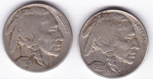 Buffalo Nickels: 1928-S & 1929-S
