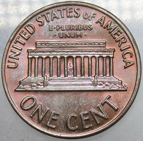 1970 S Lincoln Memorial Cent Large Date#5 RED Toned Both Surfaces