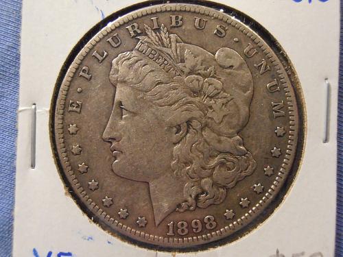 1898 S BU Morgan Silver Dollar -  (98S10)