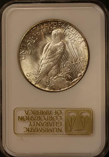 1922 Peace Dollar NGC MS64 **Beautiful Toning**