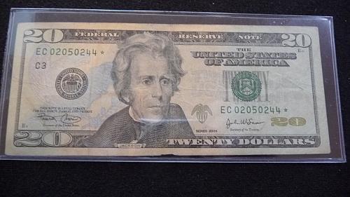 2006 $20 DOLLAR *STAR* NOTE EC02050244 IN FINE CONDITION  B-27-21