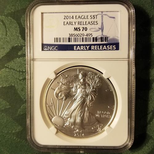 2014 Silver American Eagle MS70